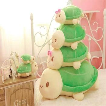 30-60cm kawaii tortuga juguetes de felpa tortuga almohada muñeca para niño/niña bebé cumpleaños vacaciones regalo niños encantador juguete suave