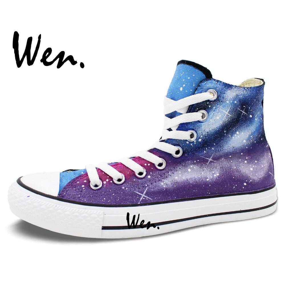 Wen Sneakers Izvorni Ručno oslikane cipele Ljubičasta Plava Galaxy - Tenisice - Foto 3