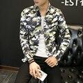 Estampado de camuflaje de Los Hombres Camisa Casual de Manga Larga Korena Estilo Fashion Slim Fit Camisa de Los Hombres de Tendencia Chaqueta Masculina Camisa Sociales Masculina