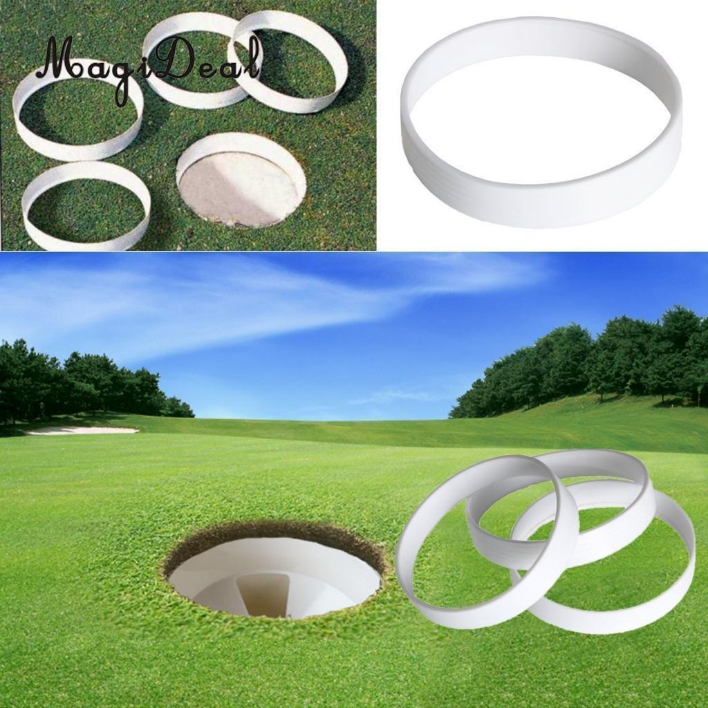 MagiDeal Golf Green Putting Cup Ring Golf Field Equipment 11cm Diameter, White ...