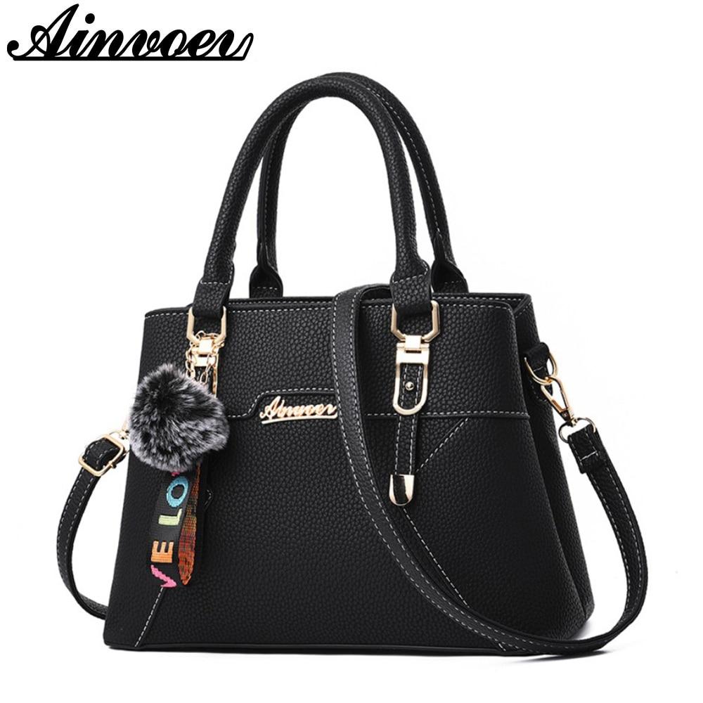 Ainvoev Handbags Fashion Shoulder Messenger Bag for Women shoulder bags Quality PU leather Ladies Handbag cross boday bags a4423