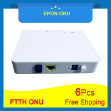 6Pcs Free shiping OLT FTTH EPON ONU EPON 1port ONU EPON 1.25G Epon ONU ONT Ethernet Passive Fiber Device to User Side(China)
