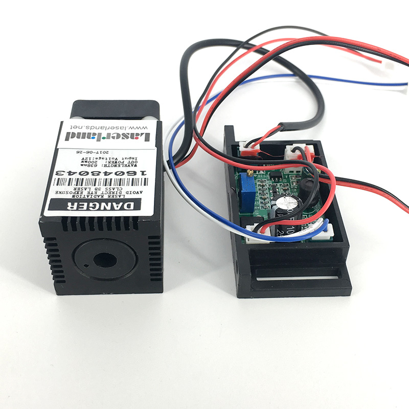 12V 638nm 200mw Orange/Red Ray Laser Dot Module w/ TTL Fat Beam for Stage Lighting Show 350mw 445nm 450nm blue fat beam laser diode module 12vdc with ttl for stage lighting show