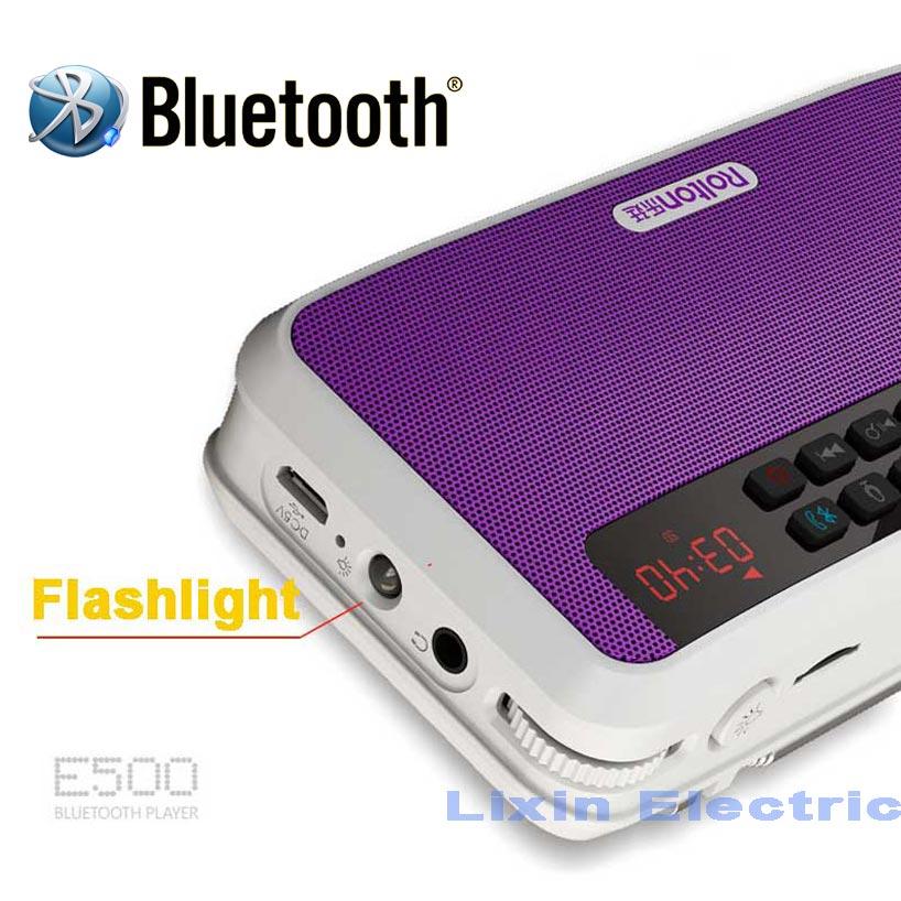 Prenosni stereo zvočniki Bluetooth Rolton E500 FM radio Clear Bass - Prenosni avdio in video - Fotografija 3