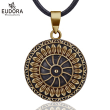 Eudora 20mm Vintage Sunflower Mexican Bola Harmony Chime Ball Pregnancy Baby Pendant Necklace for Women Jewelry N14NB322