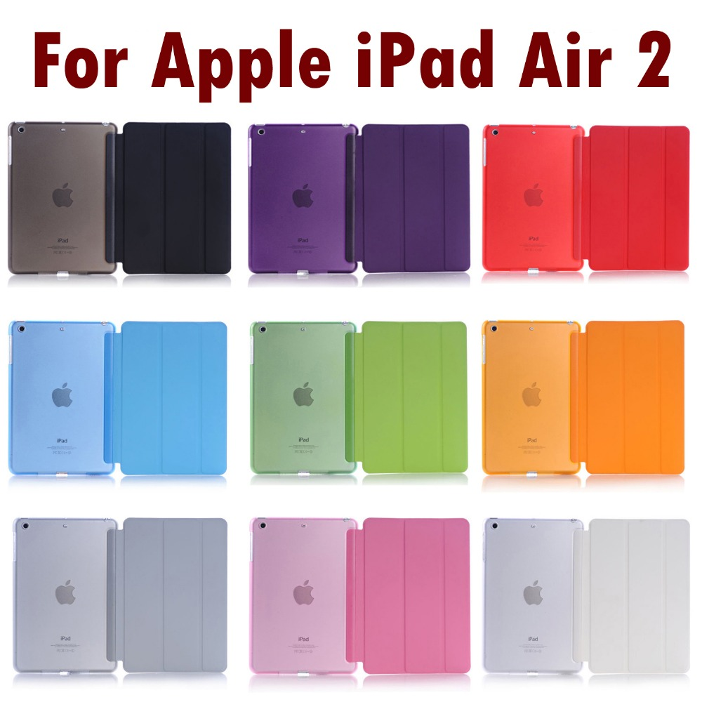 For Apple IPad Air 2 Sleeping Wakup Ultral Slim Leather Smart Cover Case For IPad 6