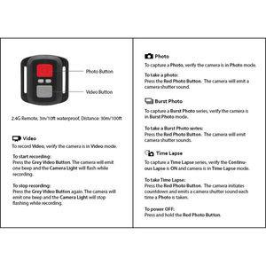 Image 5 - 3 m/10ft wodoodporny bezprzewodowy 2.4G zdalnie sterowana okiennica dla EKEN H9R H8R H6S H7S H5SPLUS Sport kamera akcji DV kontroler