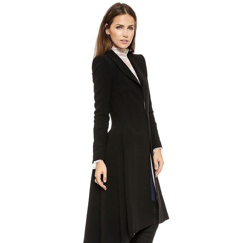 5XL Dovetail Woolen Loose Winter Female Autumn Long Trench Coat Women Parka Manteau Femme Coats Cape Cloak Outerwear Plus Size