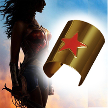 New Sexy WONDER WOMAN Costume Halloween Adult Womens Cosplay Wrist arm guard(China)