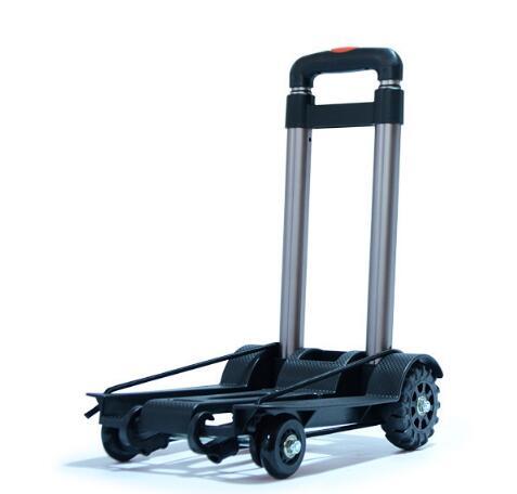 Métal pliant voyage accessoires chariot Portable bagages chariots réglable maison chariot expédition chariot fixe voyage sacs fournitures