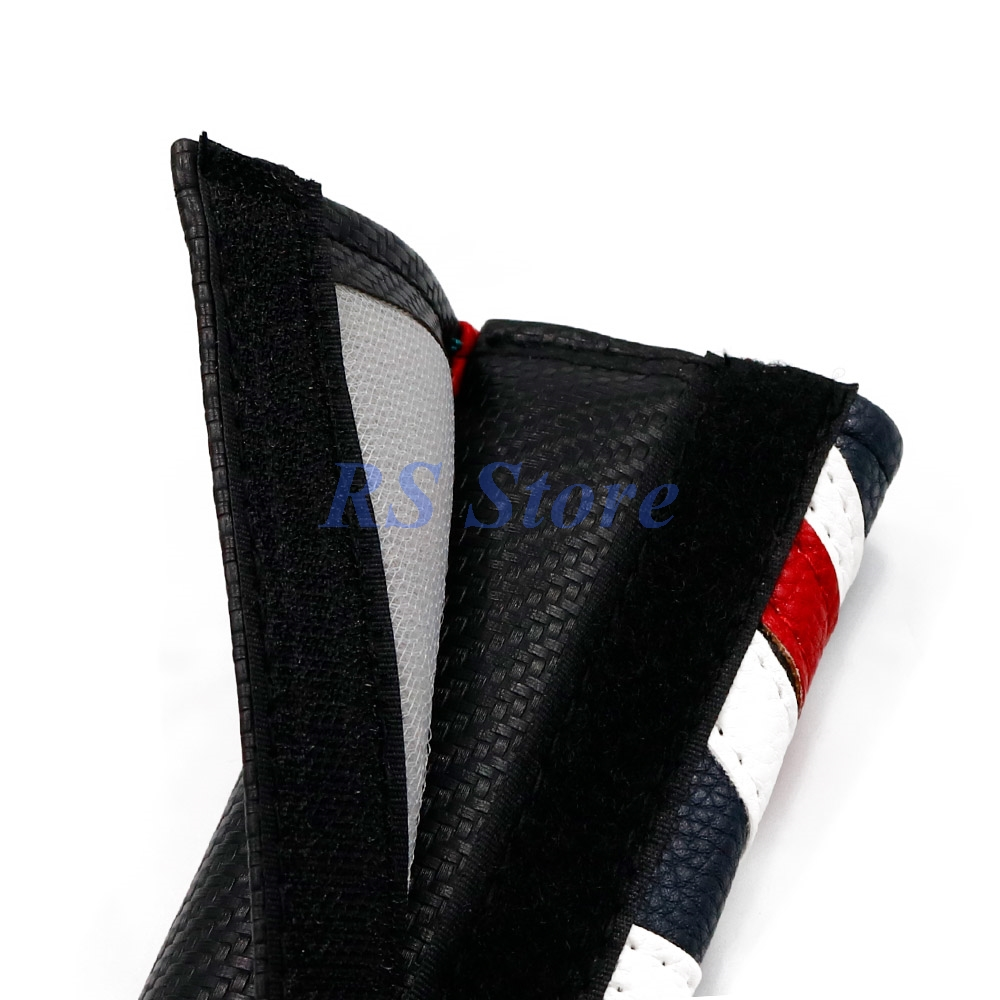 Red Car Seat Belt Cover Shoulder Pad For Mini Cooper Clubman Countryman R50 R56 R57 R58 R60 Carbon Fiber Leather Accessories