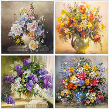 5D DIY Diamond Painting Full Colorful flower  Embroidery Mosaic Cross Stitch picture Rhinestone Home Decoration Gifts
