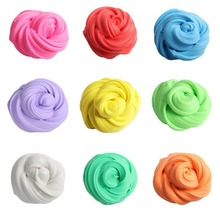 Colorful Fluffy Floam Slime Scented Stress Relief No Borax Kids Toy Antistress Sludge Cotton Mud Release Clay Toy Plasticine Box цена 2017