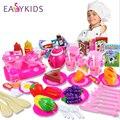 54 pçs/set Rosa Cozinha Cozinhar Alimentos Finja Role Play Toy Meninas Do Bebê da Criança, bebê miúdo brinquedos do jogo de cozinha de plástico cozinha Presente de Natal