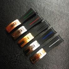 20mm Nieuwe Mode Zwart Gebogen End Siliconen Rubber Horlogeband Voor Rol band Daytona Submariner GMT explorer 2 Armband