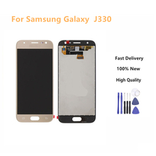 100% Tested LCD for SAMSUNG Galaxy J3 2017 Display J330 Touch Screen Digitizer Replacement Gold Color