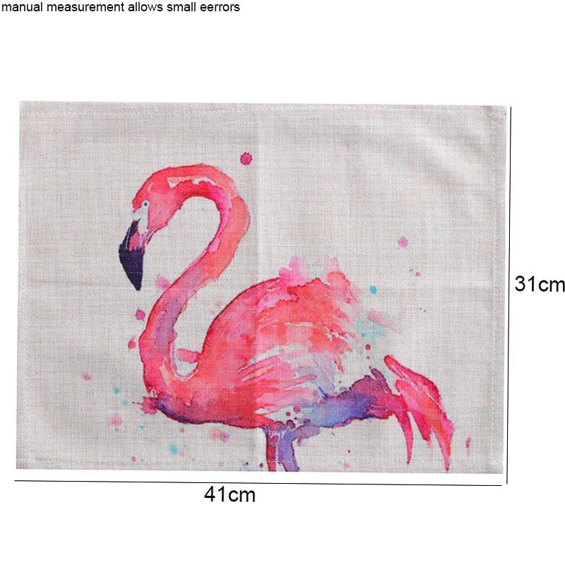 2 pcs ins Flamingo Patroon Doek Servetten Katoen Linnen Westerse Voedsel Pad Thee Handdoek Cup Mat Tafelkleed Bruiloft Restaurant Home decor