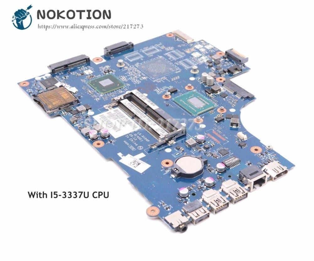 NOKOTION For Dell 15R 3521 5521 Laptop Motherboard 760R1 0760R1 CN-0760R1 VAW00 LA-9104P Main Board DDR3 W/ I5-3337U CPU kefu vaw00 la 9104p laptop motherboard for dell 3521 5521 test original mainboard i5 cpu pm
