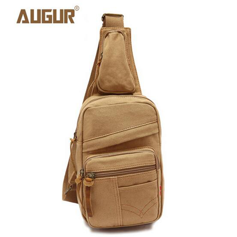 AUGUR Sling Bag Canvas Chest Pack Men Messenger Bags Casual Travel Fanny Flap Male Small Retro Shoulder Bag PD0208 string sling pack