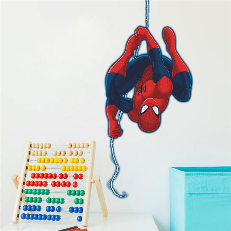 Muurstickers Kinderkamer Spiderman.Spiderman Super Hero Muurstickers Kinderkamer Decor Avengers S001
