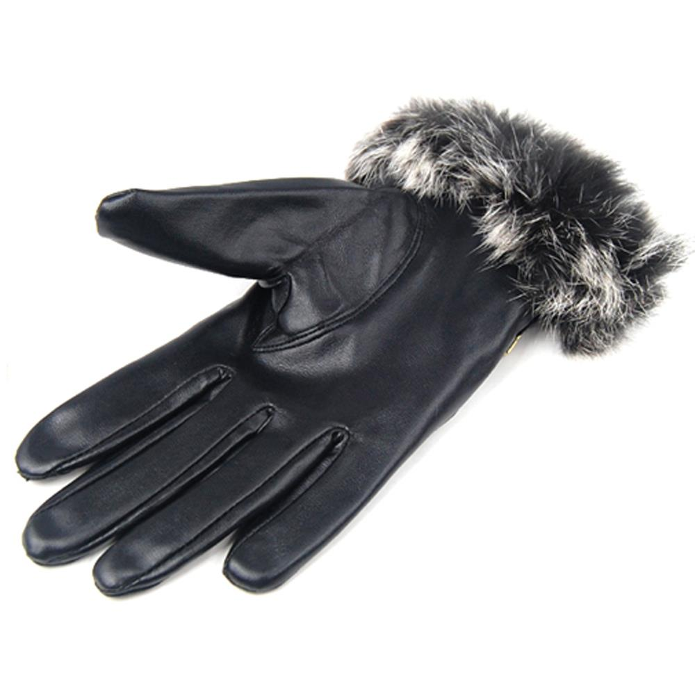Quality leather driving gloves - Hot New Ladies Quality Soft Black Winter Driving Gloves Womens Warm