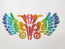 New 2016 Latest Mixed Design Stencils for Body Painting Glitter Temporary Tattoo 50pcs/lot Free shipping