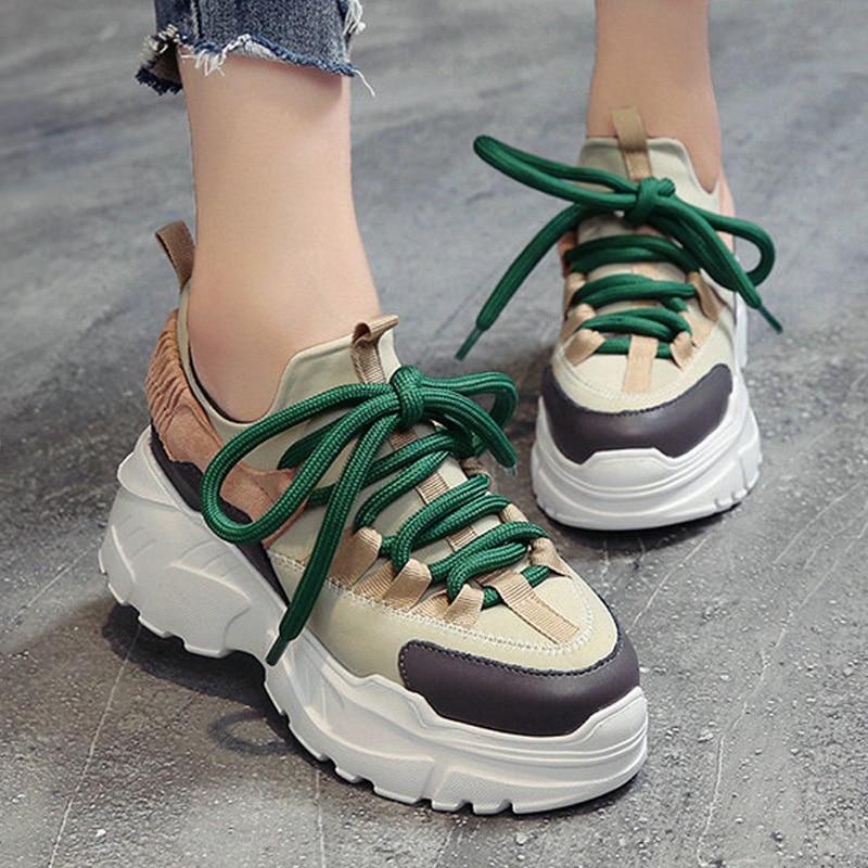 f3d8325ba35 2018 Spring Autumn Women Casual Shoes Comfortable Platform Shoes Woman  Sneakers Ladies Trainers chaussure femme