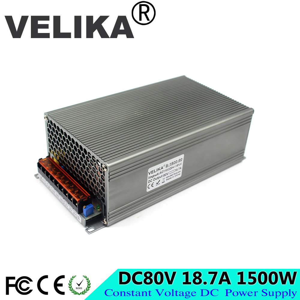 Universal 80V 18 7A 1500W Regulated Switching Power Supply Driver Transformers 110V 220V AC to DC80V