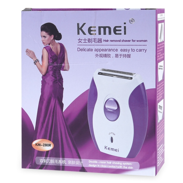 Rechargeable Twin Blade Electric Hair Removal for Women