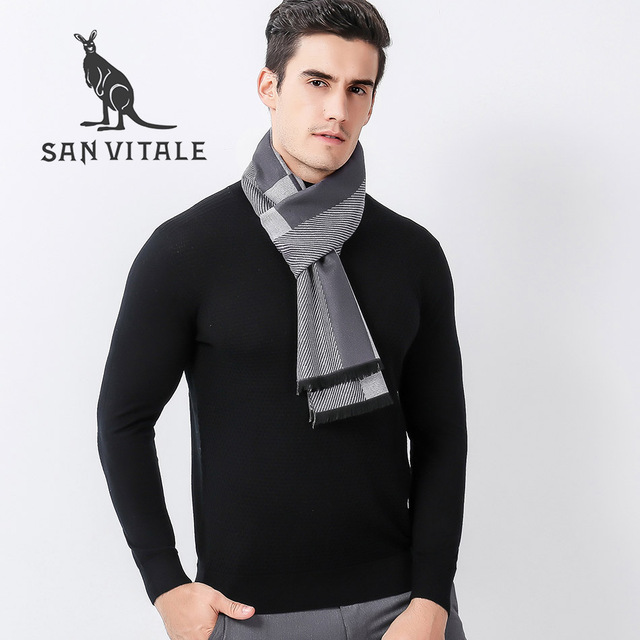 6a3f09c4959ec Scarves Men'S Scarf Lace Hijab Fall 2017 Fashion Winter Warm Christmas  Clothes Cashmere Plaid Pashmina For Dress Luxury Brand
