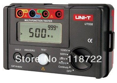 UNI-T UT526 Insulation Earth RCD Electrical Tester Meter