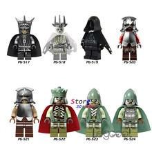 1PCS model building blocks Lord of the rings Mouth of Sauron Wraith Uruk Hai Mordor Orc King of the Dead toys for children gift(China)