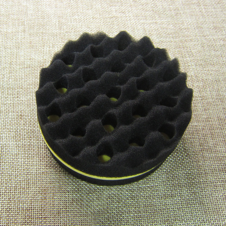 New Oval Double Sided Flat Large Hole, Wavy Small Hole Magic twist hair brush sponge, afro curly weave dreads sponge brush