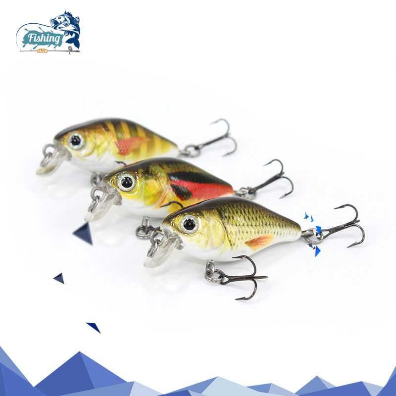 1 PCS Crankbait Fishing Lure Artificial Hard Mini Lure 40mm 4g Minnow Crank Bait Fishing Wobblers Topwater Minnow Fish Lures