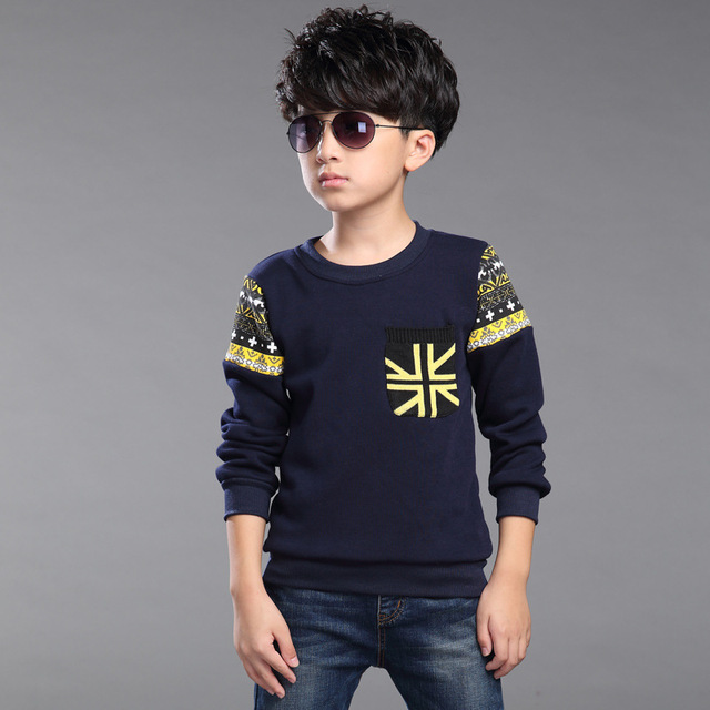 Children's T-Shirt Autumn Winter Korean New Baby Boy Clothing Casual Fashion Plus Velvet Bottom Solid Kids Warming T-Shirts Hot