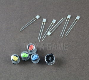 Image 1 - Najnowszy czaszka duch ABXY LED zapalają przyciski Joystick na kontroler do Xbox One