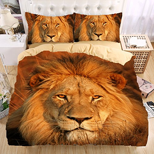 Warmtour 3d Bedding Set Lion Bedding Print Queen Twin Full