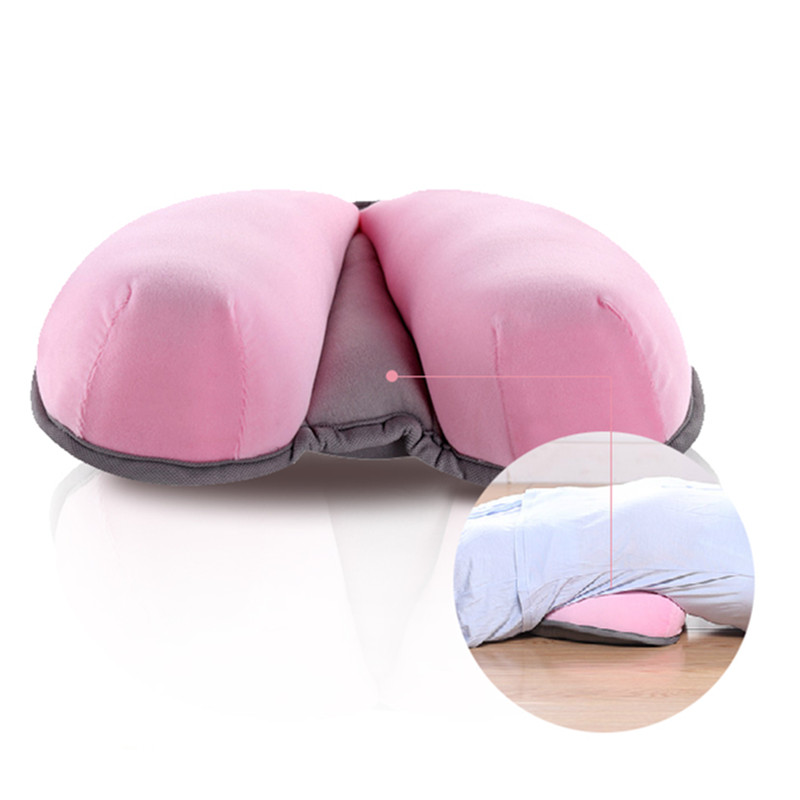 Memory Foam Waist Cushion yoga Lumbar Pillow comfort Travel Pillow for office,Car, Airplane Lumbar Support pad thin waist type image