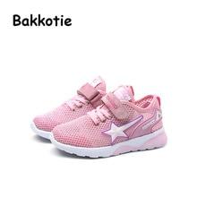 Bakkotie 2017 New Fashion Child Spring Autumn Baby Boy Casual Sport Shoe Kid Mesh Sneaker Brathable Leisure Girl Trainer Black