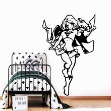 Cute sexy girl Wall Art Decal Decoration Fashion Sticker Living Room Bedroom Stickers Waterproof Wallpaper