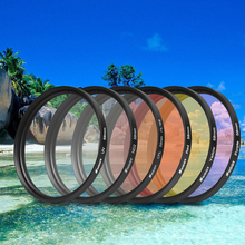6 in 1 58mm Protection Lens Filter Kits With Lens Cap Adapter Ring For GoPro Hero 5 Action Camera Accessories