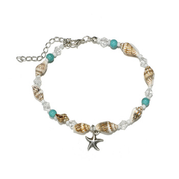 Bohemia Starfish Shell Anklets For Women Beach Anklet Leg Bracelet Handmade Foot Chain Boho Jewelry Gifts Accessories Wholesale 2