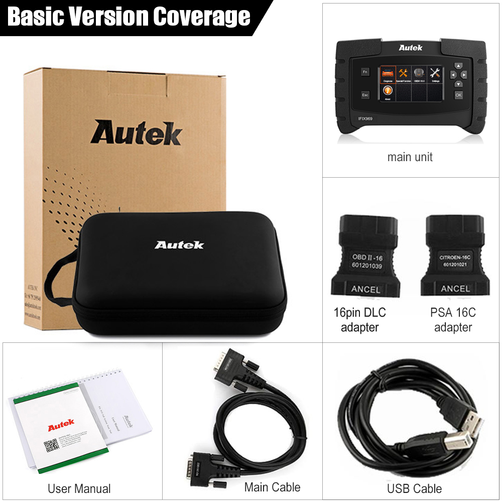 Image 5 - Autek IFIX 969 OBD Automotive Scanner Full System OBD2 Auto Scanner Transmission ABS Airbag SAS EPB Reset ODB2 Diagnostic Tool-in Code Readers & Scan Tools from Automobiles & Motorcycles on