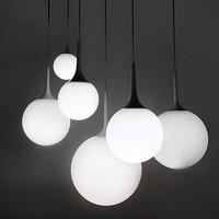 Modern Milk Globe Glass Shade Pendant Lights For Dining Room Bar Restaurant Decorative Kugellampe Hanging Pendant