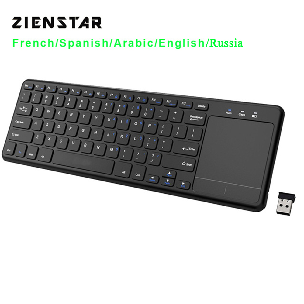 Zienstar 2.4G Multimedia  Wireless  Keyboard with Touchpad for Windows PC,laptop,ios pad,Smart TV,HTPC IPTV,Android BoxZienstar 2.4G Multimedia  Wireless  Keyboard with Touchpad for Windows PC,laptop,ios pad,Smart TV,HTPC IPTV,Android Box