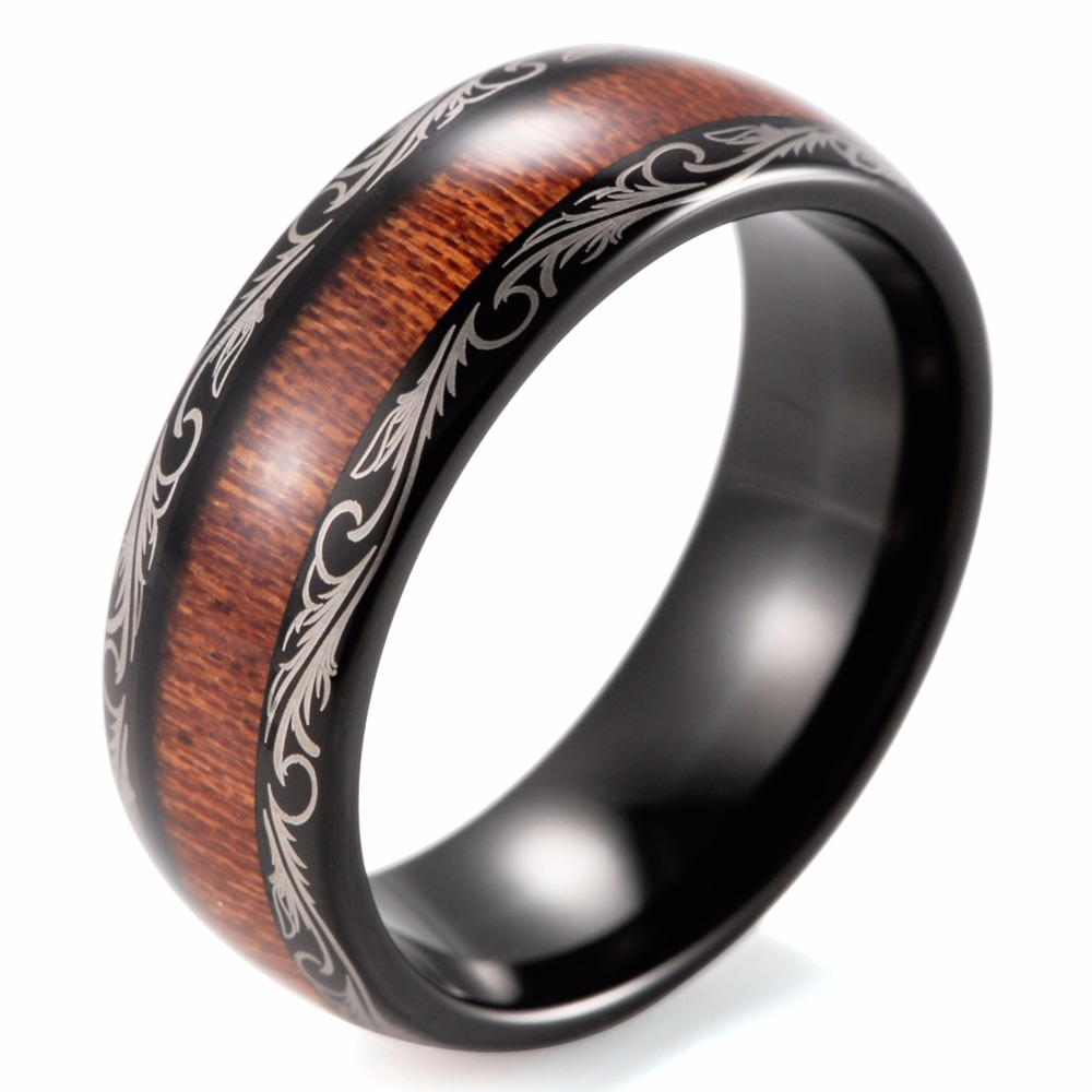product com hunting wedding blaze band camo rings ceramic orange black ring inlay