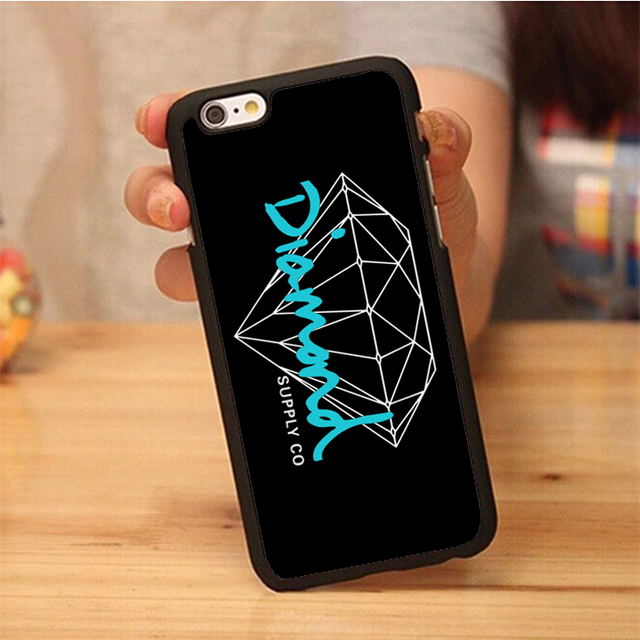 reputable site 4684f da33a US $3.88 |Diamond Supply Teal Black Custom Unique Printed Soft Rubber Phone  Cases For iPhone 6 6S Plus 7 7 Plus 5 5S 5C SE 4S-in Fitted Cases from ...