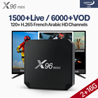 QHDTV Pro IP TV Box 2G 16G X96 Mini Android 7.1 TV Box S905W Arabic France 4K WiFi H.265 Decoder IPTV 1 Year Subscription Code
