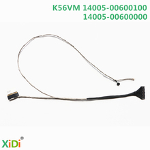 Nueva k56vm 14005-00600100 lcd cable lvds cable para asus k56 k56c k56cm k56ca s56c mic lcd lvds cable