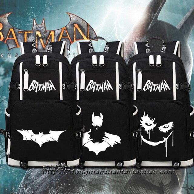 più amato 823eb e6769 Nuovo di Alta Qualità Batman zaino Batman Zaino Freddo delle donne  Sacchetti di Scuola Adolescenti uomini Zaini Ragazze di spalla borsa da  viaggio in ...